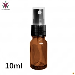 10ml Empty Amber Glass Bottle Essential Oil Mist Spray Container Case