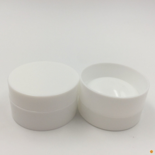 50pcs 3ml 3g PP Empty White Jar with Concave Bottom bottle Plastic Cosmetic Cream Jars