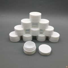 24pcs/lot 5g 5ml PP White cosmetic jar containers, empty plastic cream jar with hollow bottom