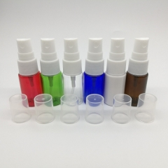 54pcs/lot 10ml empty mist spray bottle with 6 different colors, plastic perfume atomizer container for cosmetic packaging