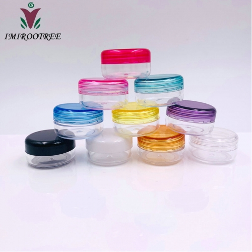 240pcs/lot 3g colorful cosmetic mini jar, plastic empty cream container for eye cream