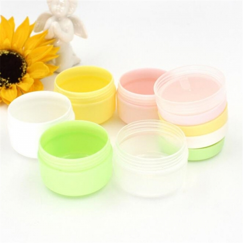 100pcs/lot 20g plastic mini cream container, empty cosmetic small jar for eye cream