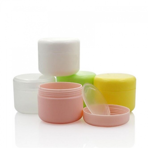 50pcs/lot 20g colorful empty cosmetic jar, plastic mini jar container for skin care cream