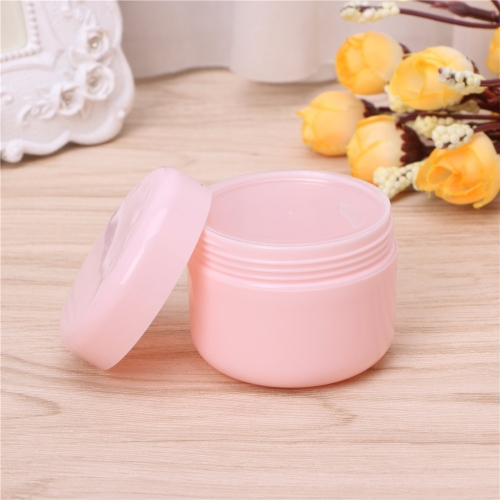 60pcs/lot 50g 50ml plastic pink cream jar for cosmetics, empty makeup container for skin care cream