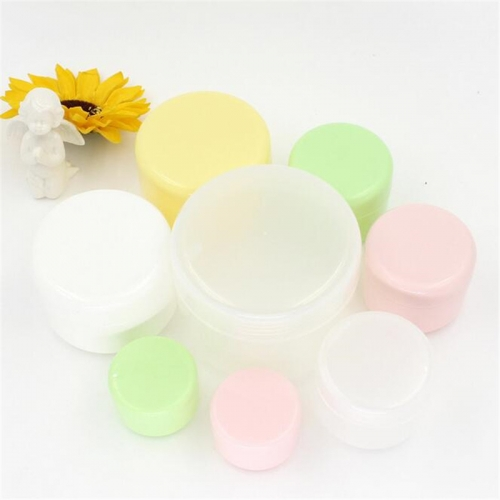 500pcs/lot 50g 50ml colorful plastic cream cosmetic jar with inner lids, empty cream containers for skin care cream