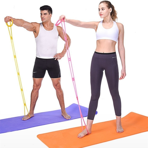 7 Holes Silicone Yoga Resistance Band Fitness Pull Rope Body Training Tools Gym Fitness Equipment