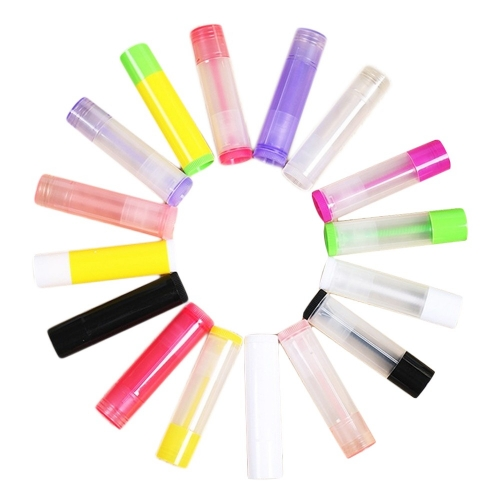 Free shipping 24pcs/lot 5ml  empty lipstick container ,  plastic lip balm container for makeup packaging