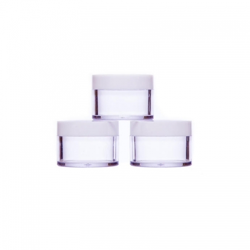 12pcs/lot 10g travel bottle container plastic clear cylinder cosmetic small jar with Screw-on Cap