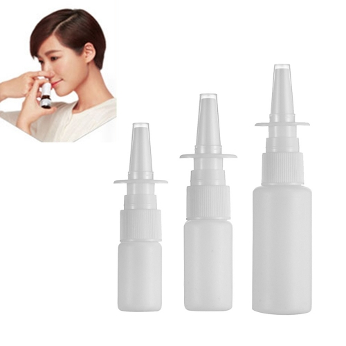 50sets/lot 30ml HDPE white Nasal Spray bottle, empty plastic refillable bottle for medical use