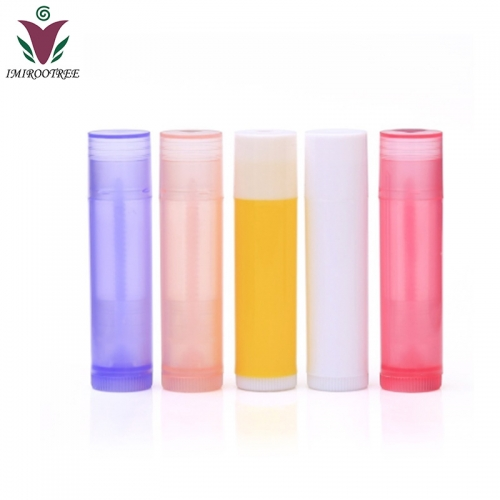 300pcs/lot 5ml cosmetic packaging plastic lip gloss containers, empty lip gloss tubes with 6 mixed colors