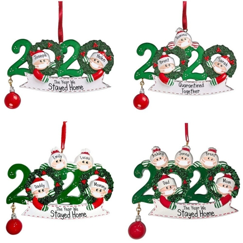 FreeShip 1pc Personalized Survived Family 2020 Christmas Holiday Decorations-Unique Christmas Tree Ornament-Special Keepsake hot